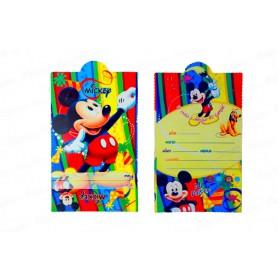 Tarjeta de Invitación Mickey x12