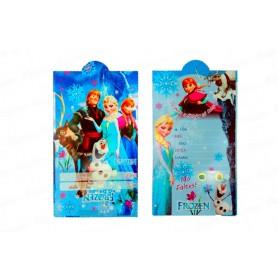 Tarjeta de Invitación Frozen  x12