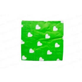 Servilleta Grande corazón Verde Paquete x20