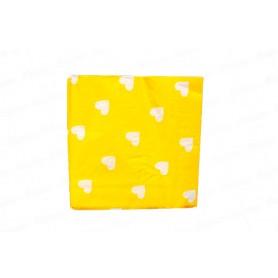 Servilleta Grande Corazón Amarillo Paquete x20