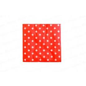 Servilleta Grande Polka Rojo Paquete x 20