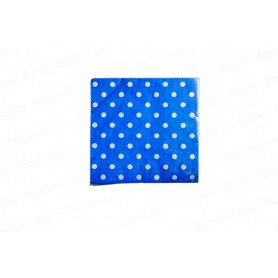 Servilleta Grande Polka Azul Real Paquete x20