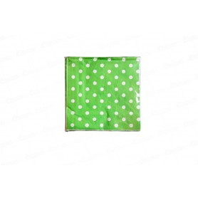 Servilleta Grande Polka Verde Selva Paquete x 20