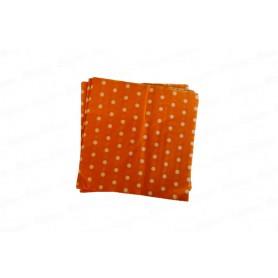 Servilleta Grande Polka Naranja Paquete x20