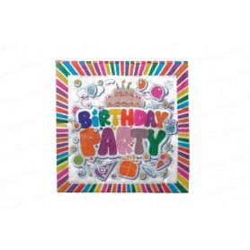 Servilleta Grande Happy Birthday Paquete x20
