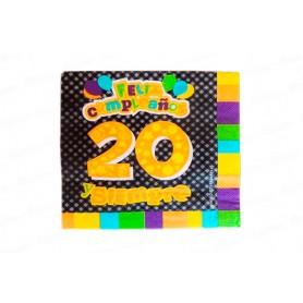 Servilleta 20 Años Paquete x20