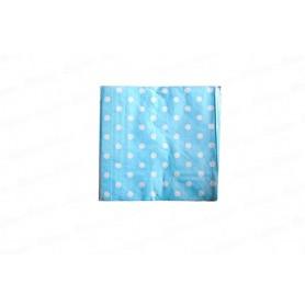 Servilleta Grande Polka Azul Celeste Paquete x 20
