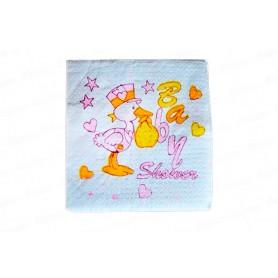 Servilleta Baby Shower Niña Paquete x20