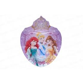 Bandeja Corazón Ronda Princesas Paquete x8
