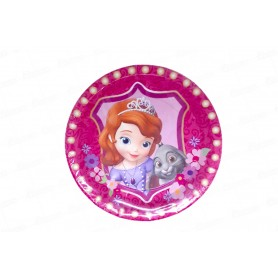 Plato redondo Princesa Sofia paquete x8